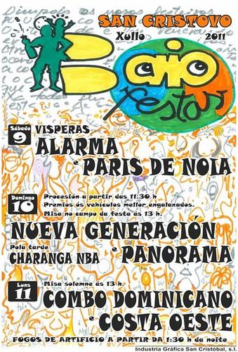 Zas 2011 - Festas de San Cristovo en Baio - cartel