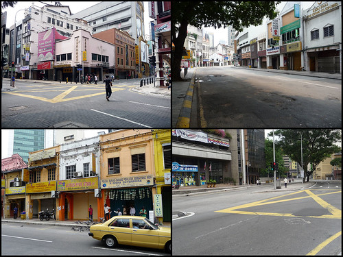 BERSIH 2.0 - 11.50am - clear and empty KL streets