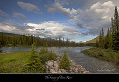 "The beauty of Bow River and a gorgeous sky (Joalhi ""Back in Miami"") Tags: canada alberta banff osprey bowriver supershot coth5"