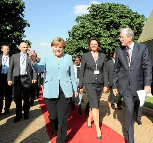 Merkel visits ILRI Nairobi: Arrival