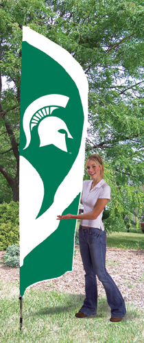 Michigan State Tall Feather Flag
