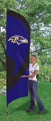 Baltimore Ravens Tall Feather Flag