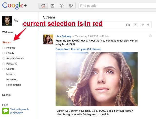 WOC - Google+ Circles