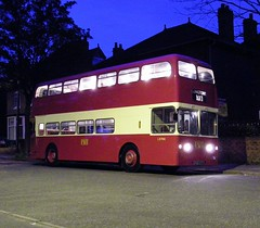 Journey's end ... almost. (Renown) Tags: bus heritage lights evening nighttime stokeontrent preserved pops preservation leyland weymann longton atlantean pdr1 potteriesomnibuspreservationsociety 766evt semilowbridge l9766