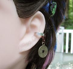 Coin cartilage ear cuff