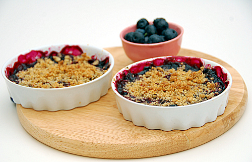 crumble mirtilli