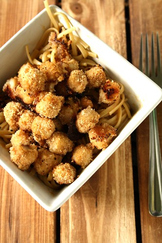 Favourite Recipes from Old New Brunswick Kitchens' Breaded Baked Popcorn Scallops