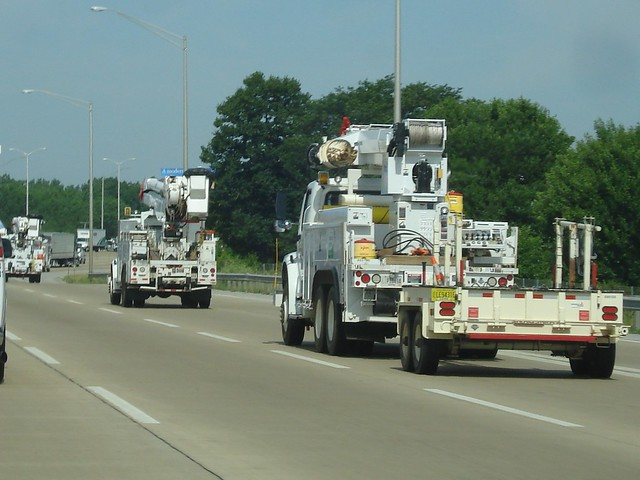 Georgia Power Line Trucks
