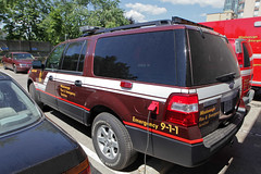 Mississauga Fire New Chief Vehicle (HANGAR ENT.) Tags: new rescue ontario canada ford expedition car station fire lights fighter chief explorer 911 led 101 vehicle department siren 108 misissauga