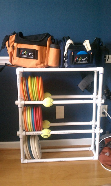 I Made A Home Disc Golf Shelf After Getting Tired Of Them Sitting In My Bag And Or Being Scattered About