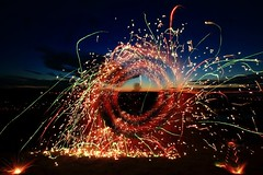 Wheel of fire (Alexandre Kundun) Tags: les de photos x le ou monde 1022mm tout vous afficher lightx firex widex longx nightx 7dx lumirex canonx alextotoro exposurex expositionx paintingx eosx anglex nuitx peinturex artificex artificialx longuex lumierex lenzx