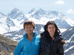 Kanitha and Samantha on the rooftop of Europe (Bn) Tags: park family blue shadow wild portrait sky sun snow mountains alps green rooftop nature water face walking landscape heidi austria golden spring woods rocks europe afternoon eagle farmers hiking farm wildlife meadows falls adventure evergreen alpine national valley vista goldenvalley gras rays peaks lush portret spar viewpoint spruce larvae finest seekers marmots hohe rauris lariks naturfreundehaus primeval unspoilt tauern kolmsaigurn hohersonnblick rauristal bartgeier beardedvulture naturfreundeweg bucheben wanderparadies 3106m dastaldergeier highsonnblick kolmsaigum rausrisersonnblick
