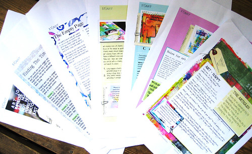 Daisy Yellow stART e-zine printed