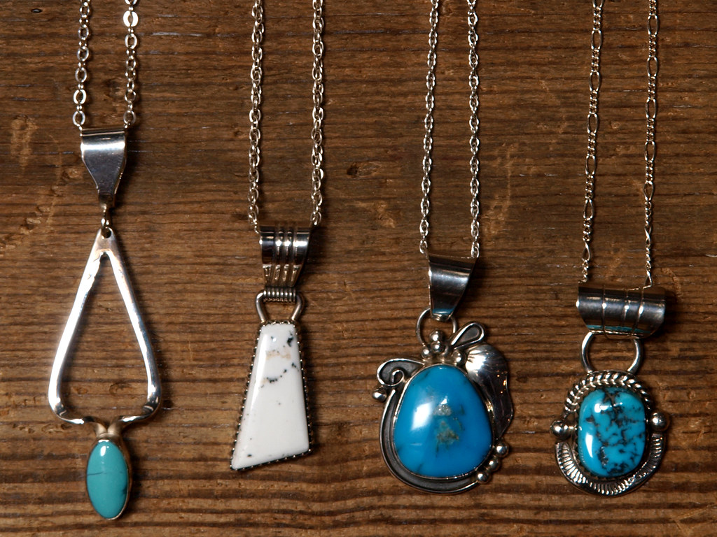 Indian Jewelry / Navajo Silver Necklaces