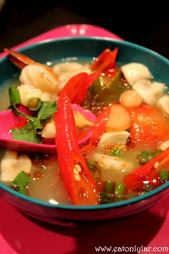 Dom yum soup, Bangkok Café