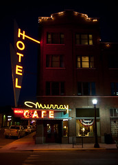Murray Hotel (Bo Darville) Tags: sign hotel cafe montana neon mt livingston murrayhotel