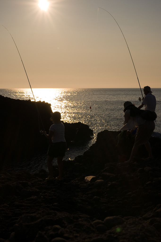the anglers near Echizen Cape