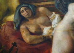 Delacroix, The Death of Sardanapalus with detail of reclining female figure