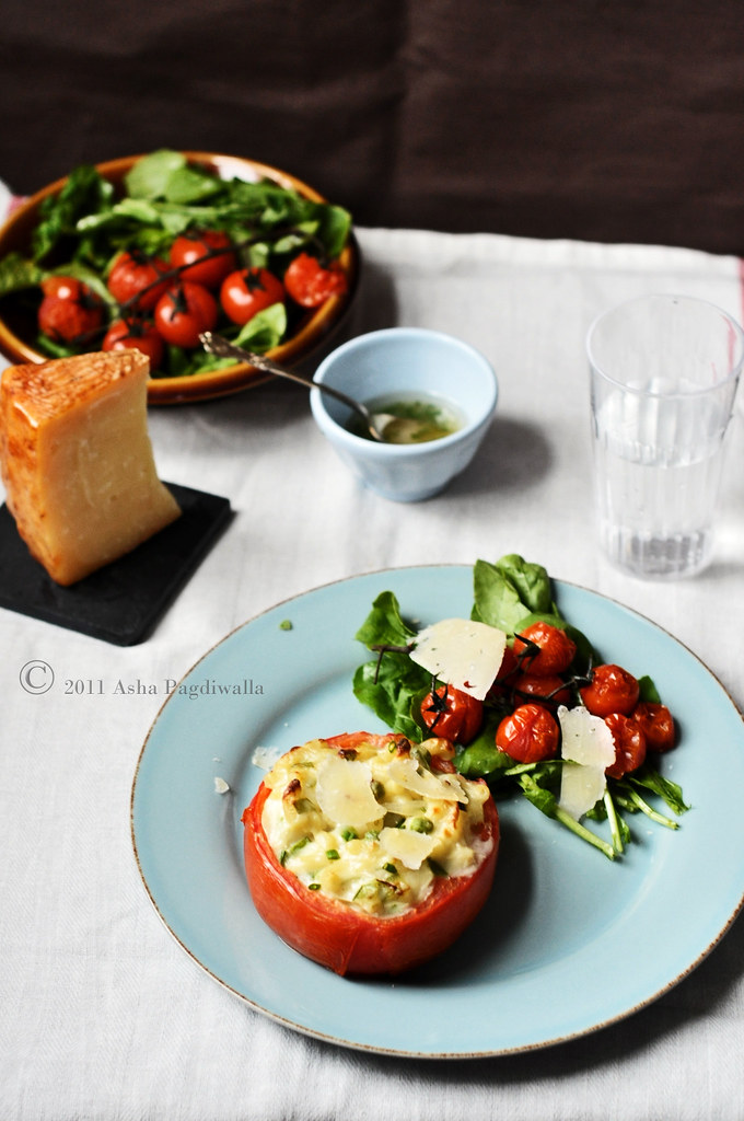 Mac & cheese Tomato Bowls