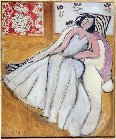 Henri Matisse, Jeune femme à la pelisse blanche (1944)