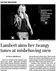 Miranda Lambert Wash Post Tear Cx5