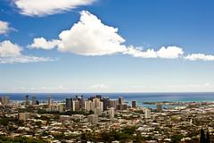 Honolulu (schmidt1211) Tags: ocean city blue urban water clouds hawaii oahu pacificocean pearlharbor blueskies niceday nikkor50mmf12 nikond700