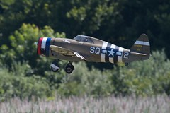 P-47 Razorback taking off at Warbirds Over Delaware 2011 (Scott Alan McClurg) Tags: world show radio de airplane army fly flying war fighter control aircraft military air wwi navy airshow event american jug remote marines delaware airforce combat warbirds rc radiocontrolled prop juggernaut razorback thunderbolt p40 wii lumspond warbirdsoverdelaware
