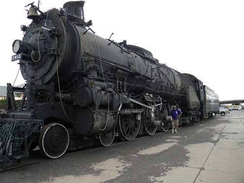 Atchinson, Topeka & Santa Fe Railroad Baldwin 4-8-4 steam locomotive # 2912.  The Pueblo Railway Museum.  Pueblo Colorado USA. 2011. by Eddie from Chicago