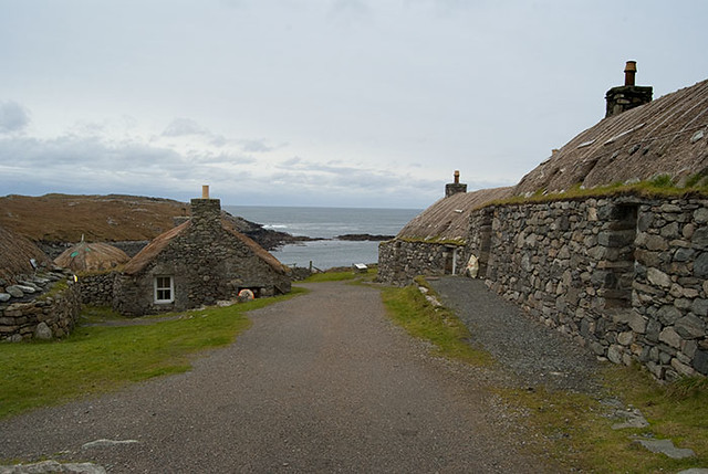 Blackhouse Village Isle of Lewis Outer Hebrides Scotland UK A001