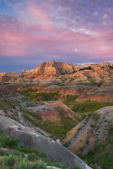 Badlands Sunrise (David M. Cobb) Tags: wild usa color southdakota blackhills sunrise midwest desert scenic erosion sd strata layers badlands prairie wilderness badlandsnationalpark oligocene