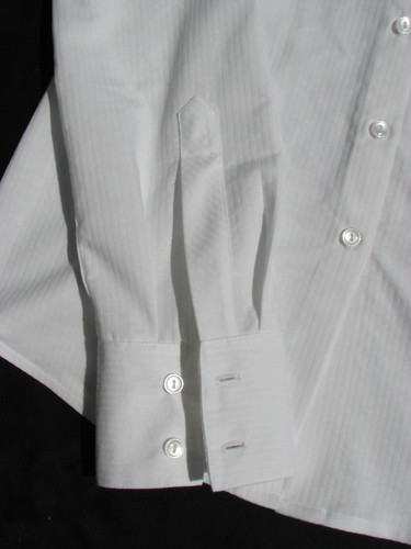 White shirt - placket and cuff
