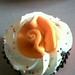 Cupcake with fondant flower