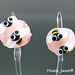 Earring : Pink Bee Blossom Flower