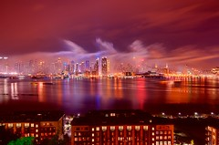 New York City (mudpig) Tags: nyc newyorkcity longexposure people ny newyork tree skyline night geotagged boat newjersey haze cityscape apartment smoke nj nypd newyorker timessquare esb bankofamerica fourthofjuly macys hudsonriver empirestatebuilding gothamist spectators july4th independenceday hdr julyfourth 42ndstreet newyorkerhotel weehawken newyorktimesbuilding policeboat newyorkpolicedepartment mudpig stevekelley 1penn onepenn stevenkelley