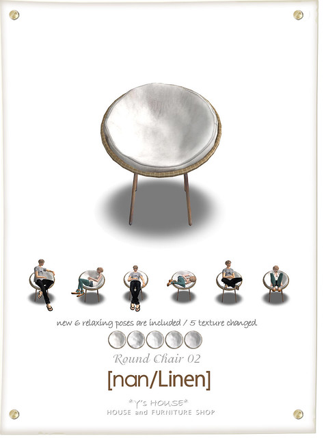 Round Chair 02 [nan/Linen]