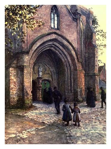 007-Porche de la iglesia en Nieuport-Belgium 1908- Amédée Forestier