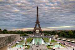 Eiffel Tower in a Summer Afternoon (Bernardo Mller) Tags: summer paris france tower clouds canon europe eiffel 7d ef hdr 1635mm