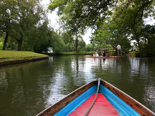 Rowing Along Oxford Canal