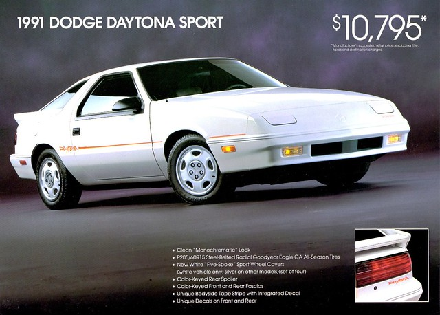 sport dodge 1991 daytona brochure