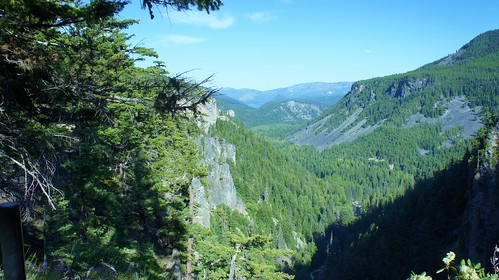 Looking down toward Rimrock Lake from Clear Creek Falls.