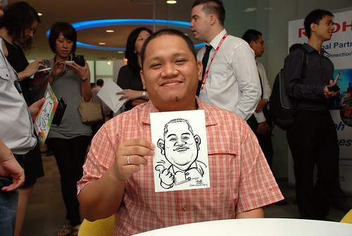 Caricature live sketching for Ricoh Roadshow - 32