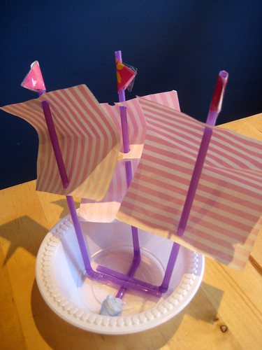 how to make a toy boat with masts