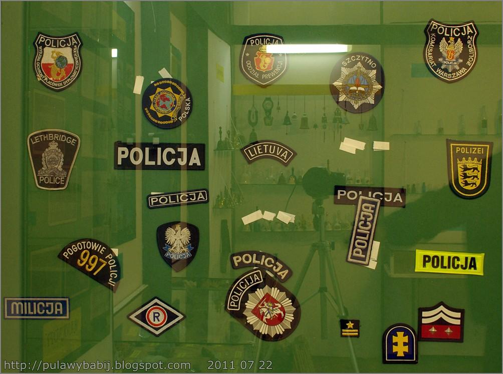 Kolekcja naszywek policyjnych w Muzeum Ziemi Biłgorajskiej