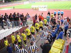 RUHR-Cup International 2011: Einlaufen der Mannschaften von Borussia Dortmund und Juventus Turin