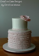 Couture Bridal Shower Cake (Christina's Dessertery) Tags: pink flower cake shower double pearl extended bridal couture height haute buttercream frill christinajohnson barrol creativecakedesigns
