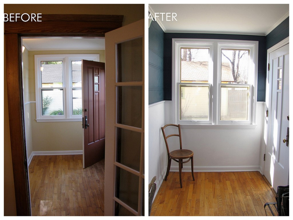 Before & after paint makeover: Benjamin Moore 'Newburg Green'