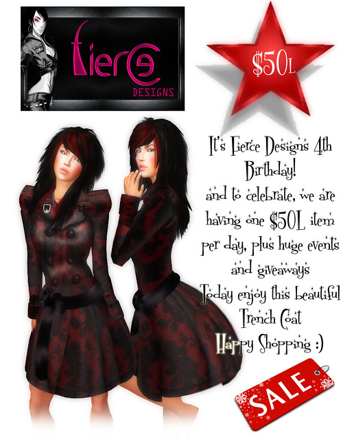 50L Birthday Promotion from Fierce Designs (Trench Coat)