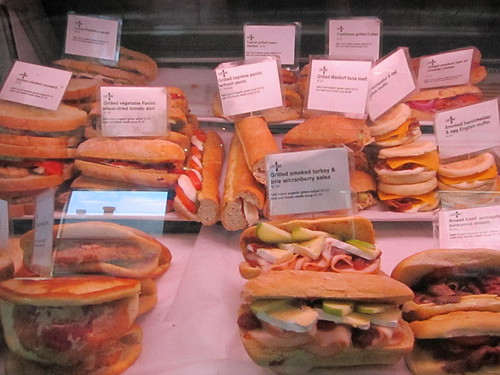 the selection of fast and delicious sandwiches at Cafe Uno in the Distillery district