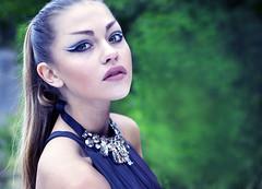 Sofia (Lisa Widerberg) Tags: green girl fashion hair photography model dress sweden makeup greeneyes brunette neckless