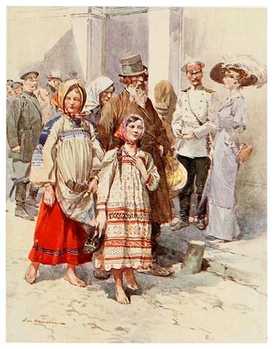 013-Campesinas visitando Moscow-Russia-1913- F. de Haenen